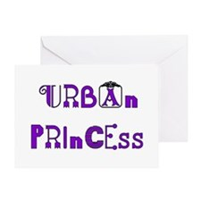 Urban Princess Greeting Card