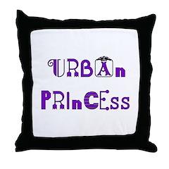 Urban Princess Throw Pillow