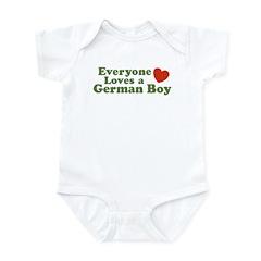 Everyone Loves a German Boy Infant Creeper