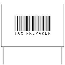 Tax Preparer Barcode Yard Sign