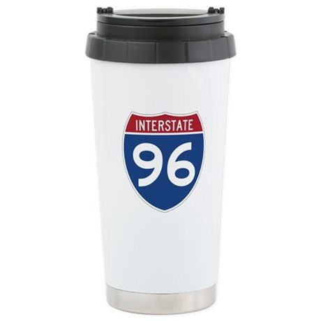 Interstate 96 Stainless Steel Travel Mug
