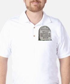What Happens in the Costume Shop (Tombstone) T-Shirt