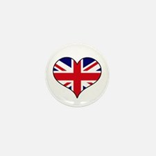 British Flag Heart Mini Button (10 pack)