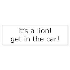 lion Bumper Bumper Sticker