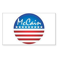 Patriotic McCain Rectangle Decal