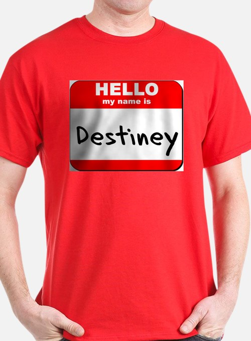 Hello my name is Destiney T-Shirt