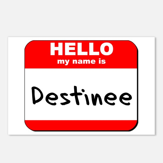 Hello my name is Destinee Postcards (Package of 8)