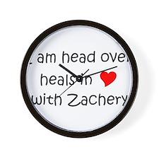 Funny I love zachery Wall Clock