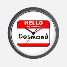 Hello my name is Desmond Wall Clock