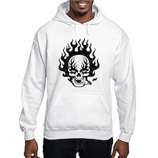 Flaming Stogie Skull Hoodie