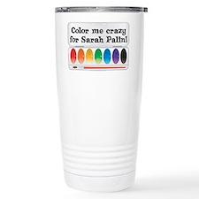 Color Me Crazy for Sarah Palin! Travel Mug