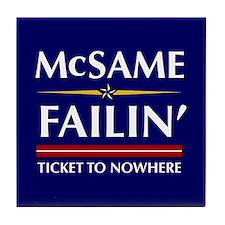 Ticket To Nowhere Tile Coaster