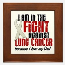 In The Fight 1 LC (Dad) Framed Tile
