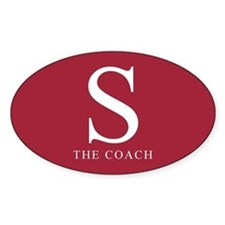 S The Coach Oval Decal