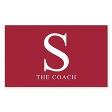 S The Coach Rectangle Decal