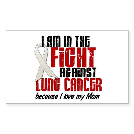In The Fight 1 LC (Mom) Rectangle Sticker