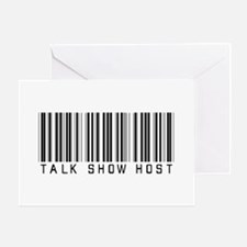 Talk Show Host Barcode Greeting Card