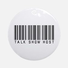 Talk Show Host Barcode Ornament (Round)