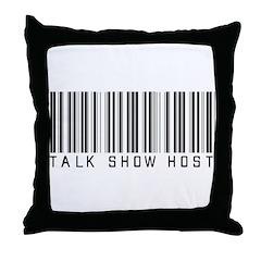 Talk Show Host Barcode Throw Pillow