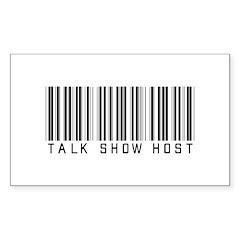 Talk Show Host Barcode Rectangle Decal