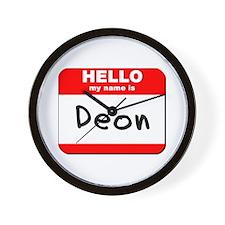 Hello my name is Deon Wall Clock