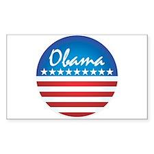 Patriotic Obama Rectangle Decal