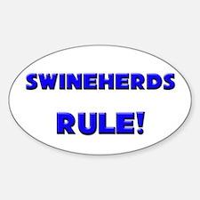 Swineherds Rule! Oval Decal