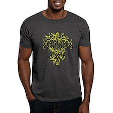 Black and Yellow Graphic Obama T-Shirt
