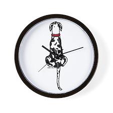 Harlequin Great Dane UC Sit Wall Clock