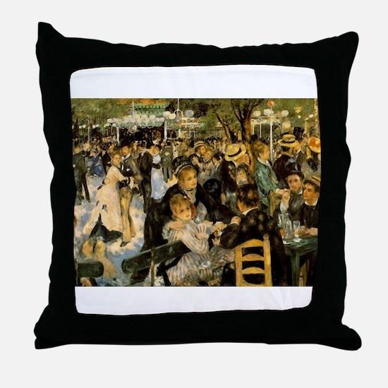 Dance at Le Moulin de la Galette Throw Pillow