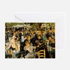 Dance at Le Moulin de la Galette Greeting Card