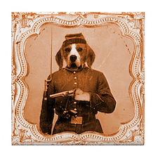 Beagle LEFTY Tile Coaster
