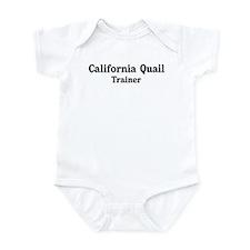 California Quail trainer Infant Bodysuit