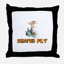 Semper Fly Throw Pillow