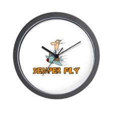 Semper Fly Wall Clock