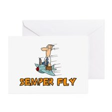 Semper Fly Greeting Cards (Pk of 10)