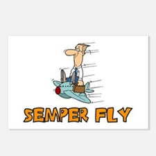 Semper Fly Postcards (Package of 8)