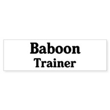 Baboon trainer Bumper Bumper Sticker