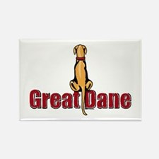 Fawn Great Dane UC Sit Rectangle Magnet