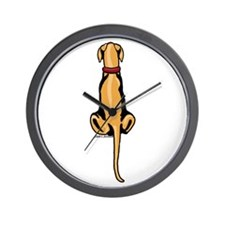 Fawn Great Dane UC Sit Wall Clock