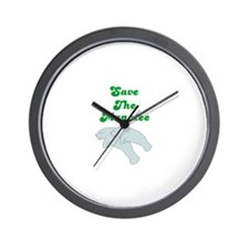 SAVE THE MANATEE Wall Clock