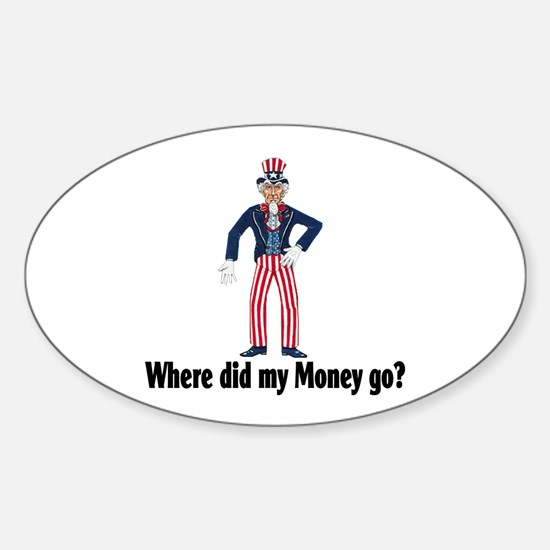 Where did my money go? Oval Decal