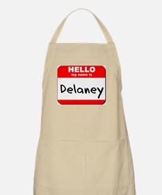 Hello my name is Delaney BBQ Apron