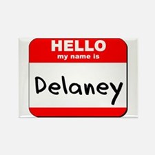 Hello my name is Delaney Rectangle Magnet
