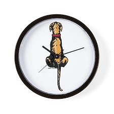 Brindle Great Dane UC Sit Wall Clock