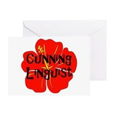 Cunning Linguist Greeting Card