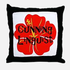Cunning Linguist Throw Pillow