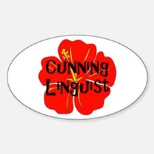 Cunning Linguist Oval Stickers