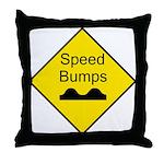Speed Bump Sign - Throw Pillow