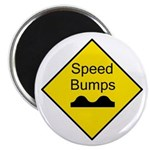 """Speed Bump Sign - 2.25"""" Magnet (10 pack)"""